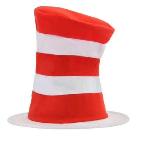 Dr. Seuss Cat in The Hat Stovepipe Costume Hat for Kids Red