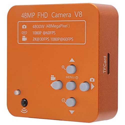 Mikroskop FHD38MP, Elektroniczna Kamera z Mikroskopem Cyfrowym Obiektyw 180X z Mocowaniem Typu C Przemysłowa Kamera Spawalnicza do Maszyn Dokładności AC100-240V(EU Plug)