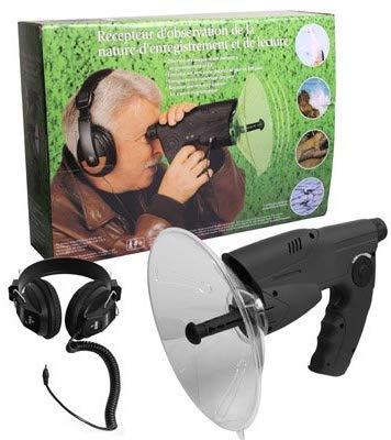 Parabol Richtmikrofon Abhöranlage Spion mit Kopfhörer McVoice Zieloptik Abhörtechnik Hörgeschädigte 90m