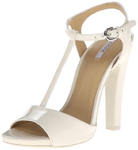 Geox Sandalo con Tacco Crema EU 38.5