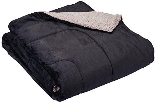Colchas Concord Andrómeda Cobertor Borrega Matrimonial, color Negro