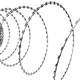 vidaXL NATO Alambre de Espino Cinta de Afeitar/Rollo de Alambre Helicoidal Acero Galvanizado 100 m