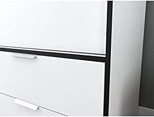 Générique Capri Armoire de Chambre 140 cm - Blanc Mat et Noir