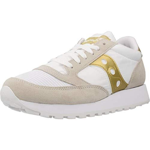 Saucony Jazz Original Vintage, Sneakers Unisex-Adulto, Bianco Oro 143, 39 EU