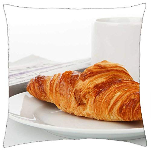 LESGAULEST Throw Pillow Cover (20x20 inch) - Break Breakfast Corporate Cup Drink Food Sunday