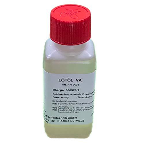 Flussmittel/Lötöl VA 100 ml (Konventionelles Weichlöten von Edelstahl, Eisen-, Kupfer- und Messingwerkstoffen)