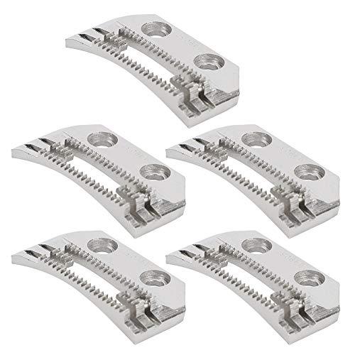 5 piezas de dientes de alimentación para máquina de coser, placa de aguja de doble hilera, dientes finos en forma de E universal, para máquinas de coser industriales Brother Consew Juki Singer
