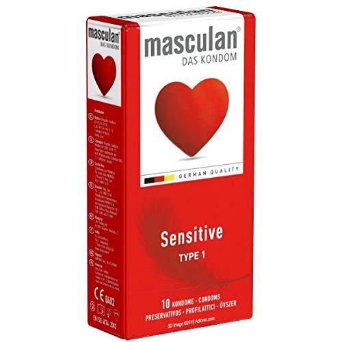 Masculan Sensitive (Typ 1) - 10 zarte und gefühlsechte Kondome - rosa gefärbt