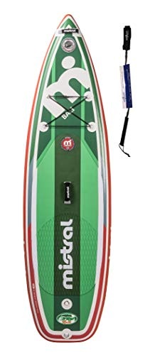 Mistral Bali 8'6 SUP Bambini Tripe-Line, Superlight Woven-Fusion Layer Technology, Standup Paddel Board, SUP Gonfiabile con SUPwave.de Coil-Leash Stand up Paddle Board iSUP