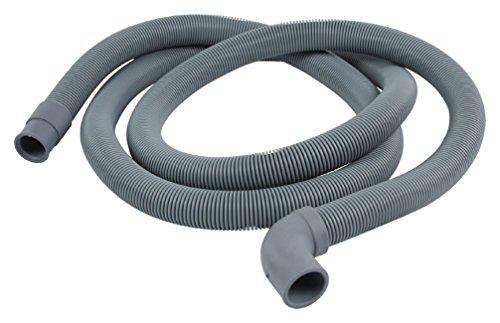 Eurosell Ablaufschlauch 22 mm abgewinkelt - 19 mm gerade 0.5 bar 60 °C 2.50 m für Geschirrspüler und Waschmaschine