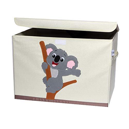 Artli Aufbewahrungsbox Kinder Spielzeug I Spielzeugkiste mit Deckel für das Kinderzimmer I Box Spielzeug Aufbewahrung Regal Koala 36x36x51cm