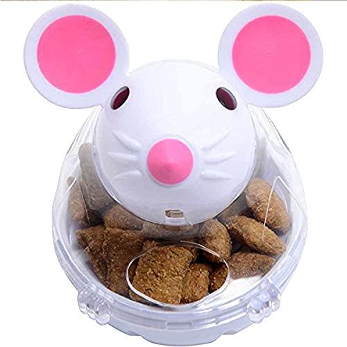 Katzenspielzeug 1 x Futterspender für Katzen, Mäuse, Futterspender, Futternapf, lustiges Spielzeug für Katzen, Kätzchen, Katzenspielzeug (Farbe: 1 Stück, weiß)