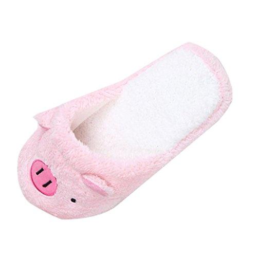 Amlaiworld Frauen Hausschuhe, Schöne Schweine weichen Streifen Hausschuhe weiblichen Schuhe (40, Rosa)