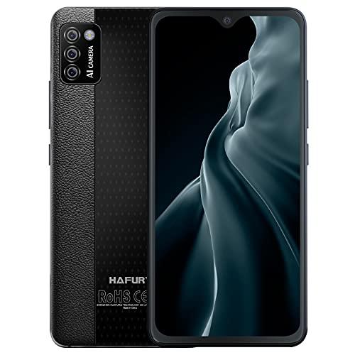 Smartphone Libre 4G, HAFURY Teléfono Móvil Android 10.0 Cámara Trible 13MP+0.3MP+0.3MP, Dual Sim Desbloqueo Facial, Pantalla 5.5 Pulgada FHD 3100mAh, 2GB RAM+16GB ROM (Ampliable hasta 128 GB), Negro