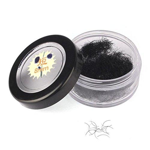 Faux Cils Naturels 8MM Noir Curl Faux Cils Extension Eye Lashes Outils de maquillage