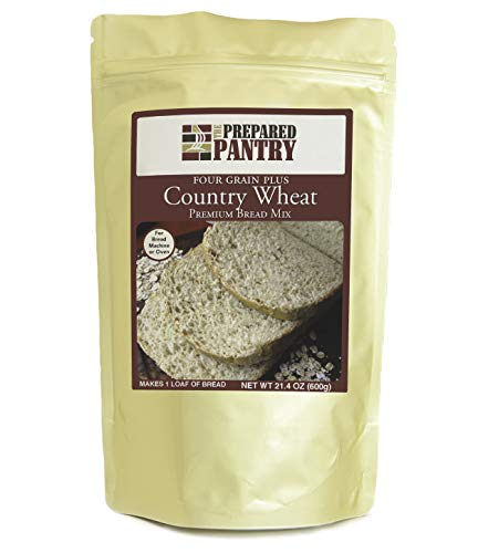 The Prepared Pantry Four Grain Country Wheat Bread Mix; Single Pack; For Bread Machine or Oven