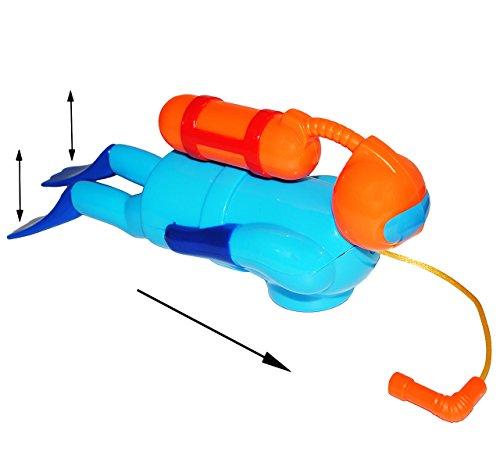 alles-meine.de GmbH Badewannenspielzeug / Schwimmfigur -  Taucher  - schwimmt selbst im Wasser - zum Aufziehen - für Badewanne / Badespielzeug - Wasserspielzeug Tier / Tauchsch..