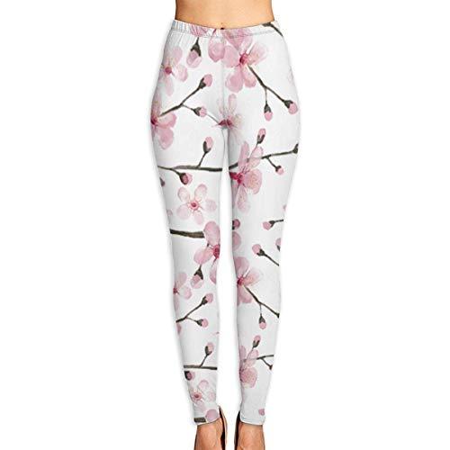 JJsister Women 's Pink Peach Bedruckte Leggings Yoga Workout Leggings in voller Länge Hose Soft Capri