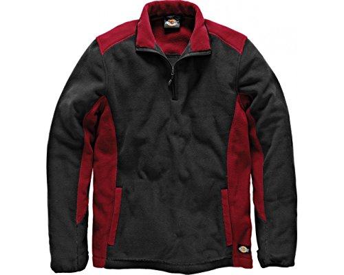 Dickies zweifarbiger Fleecepullover rot/schwarz RDBXXL, JW7011