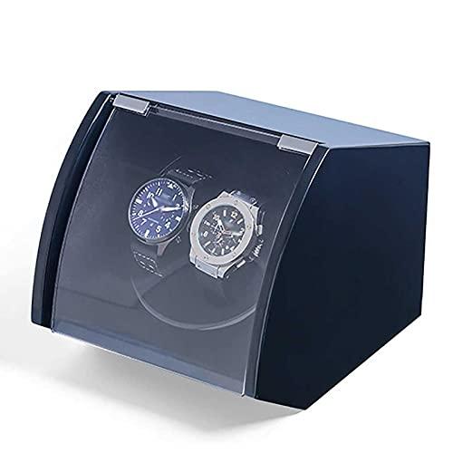 UOOD Reloj automático, Winder Winder para Relojes automáticos, víspera de visualización con Suministro de Motor silencioso, Almohada Flexible. Excelente Mano de Obra (Color : Black)