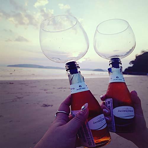 Atornillar Beber Copa recta Herramientas de barra de fiesta Moda Cristal único Cristal transparente Botella de vino tinto