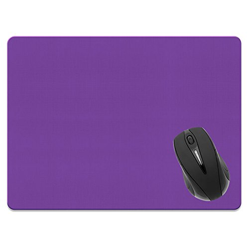 Extra Large (X-Large) Size Non-Slip Rectangle Mousepad, FINCIBO Solid Orchid Purple Mouse Pad for Home, Office and Gaming Desk