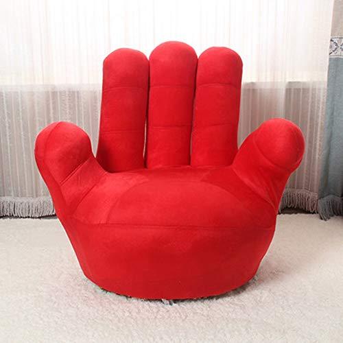 LONGren Kinder-Sofa-Stuhl, Baseball-Handschuh-geformte Finger-Art-Kleinkind-Sessel-Wohnzimmer-Sitz, Kindermöbel Fernsehstuhl / (35.4x13.8x33.5inches / 27.6x11.8x25.6inches