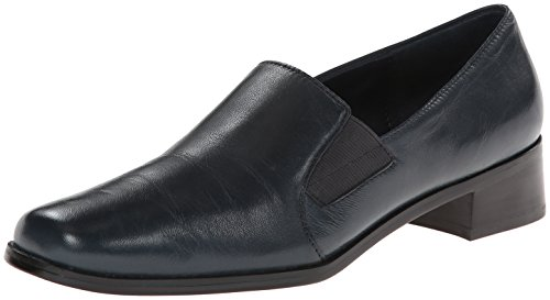 Trotters Women's Ash Loafer,Navy Kid,5.5 M