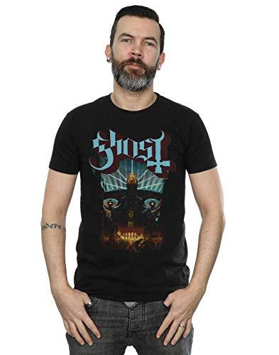 Ghost Men's Meliora Cover T-Shirt,Camisetas y Tops(Large)