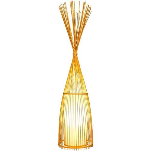 Lámpara de pie Sala de Estar Simple Lámpara de pie Zen Space Tea Room Art Creative Bamboo Lamp Lámpara de pie