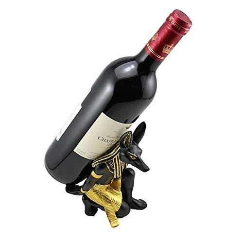 ASDZ Estante De Vino Antiguo Egipcio Anubis Dios Estante De Vino Material De Resina Premium Regalo Novedoso para La Decoración De La Habitación del Hogar