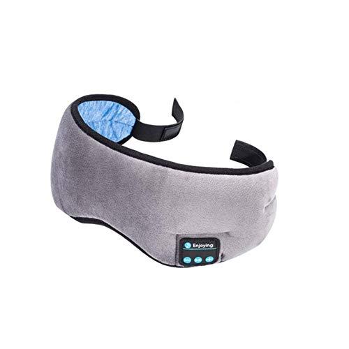 ZXY Bluetooth Casque Serre-tête Sommeil, sans Fil Bluetooth 5.0 Multifonctions Sleeping Mask Eye Music Casque Haut-parleurs intégrés Microphone pour Lavable Voyage Siesta