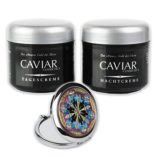 Anti Aging Tag & Nachtcreme CAVIAR BIO-VITAL 250 ml Pflegeset hochkonzentrierte Kaviar Anti-Falten Creme für ein frischeres Gesicht, Hals und Dekolleté Made in Germany von STREHLER DESIGN