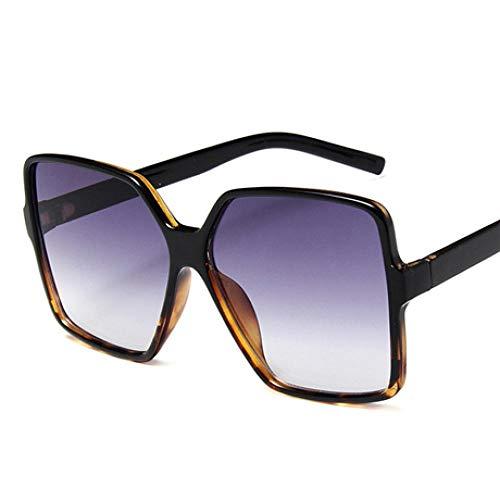 Gafas de Sol Sunglasses Moda Mujer Gafas De Sol De Gran Tamaño Gradiente Diseñador De Plástico Gafas De Sol Femeninas Uv400 Gris