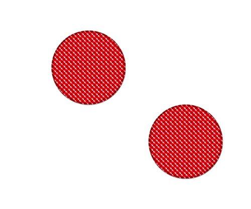 AG Design A-CZ-078 sticker reflector rond, 3D, diameter 2,5 cm, set van 2, rood