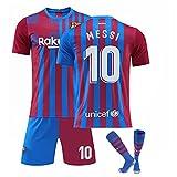 GDYJP Camiseta de fútbol Personalizada 21-22 Camiseta de Barcelona Versión Correcta Messi No. 10 Uniforme de fútbol Traje (Color : Home10, Tamaño : S)