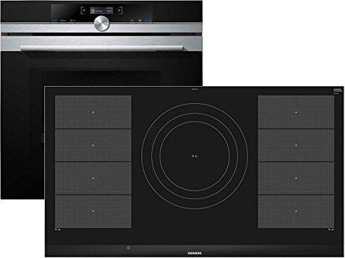 Siemens EQ2Z089 Set Backofen mit Mikrowelle HM633GNS1 + Induktion Glaskeramik Kochfeld EX975LVC1E