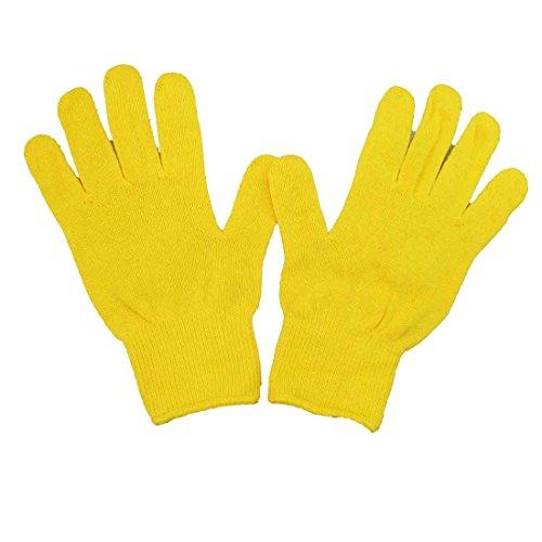 大人用カラー軍手 安心 安全 国産 綿100% カラー軍手 女性用 手袋 21cm (黄色)