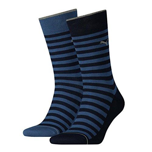 PUMA Herren Socken Classic 4er Pack, Größe:47-49;Farbe:Denim Blue (460)
