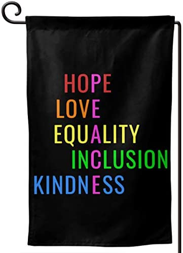 AIJEESI Love Peace Equality Inclusion Kindness Hope Garden Flag Double Sided Spring Summer Yard product image