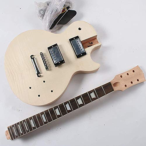 Proyecto eléctrico Kit de guitarra Paquete de bricolaje sin terminar con todos los accesorios
