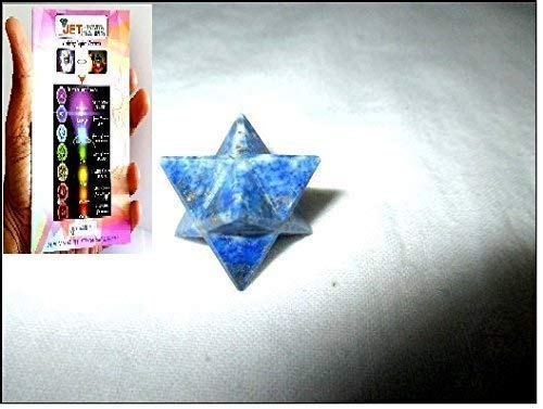 Jet Lapis Lazuli Merkaba 1 inch Star Free Booklet Jet International Crystal Therapy. Jet International Healing Spiritual Divine India A++ Crystal Therapy Geometry