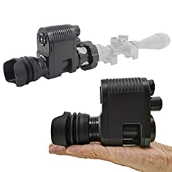 Infrared HD Night Vision Monocular with 25MM Lens Smart Digital Shooting Hunting Gear Can Takes 5MP Photo 720P Video from 984ft Distance in Complete Darkness (Megaorei 3)