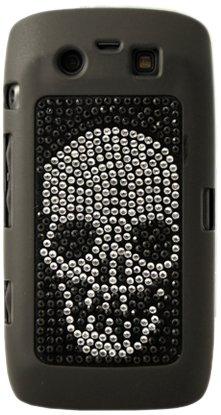 Mocca Design Handyschale, Rückseitenschutz, Motiv Totenkopf mit Strass, für BlackBerry 9860