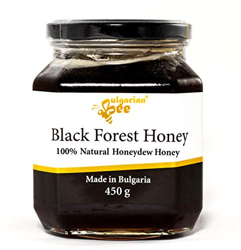 450 g Gotas de Miel, Miellada Negro Miel, Naturaleza de Montaña Virgen bosque, Certificado sin antibióticos, sin azúcar, sin calentar, sin pasteurizar, crudo, miel real BulgarianBee®