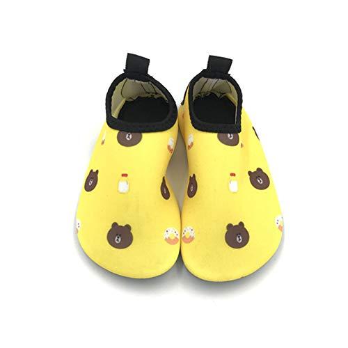 Vast Zapatos de agua para playa de verano, zapatos de agua con suela de 5 mm para niños y niñas, calcetines de buceo descalzos para nadar de secado rápido (tamaño: 22-23 (11-12 cm), color: color 03)