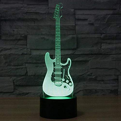 Instrumento de música 3D Dimensional Orchestra Headset Rock Band Night Light Guitarra Lámpara de mesa Sala de estar Lovely cartoon Kids Gift