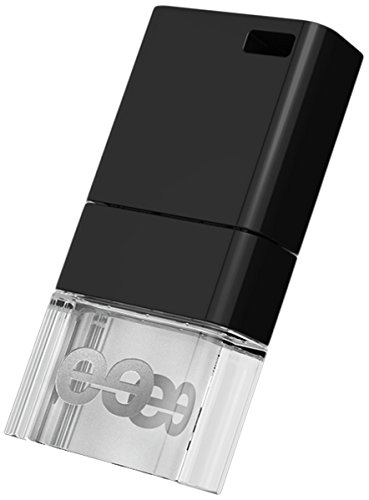 Leef Ice USB 2.0 8GB High-speed USB Flash Drive with Soft-glow LED and PrimeGrade Memory (Black)