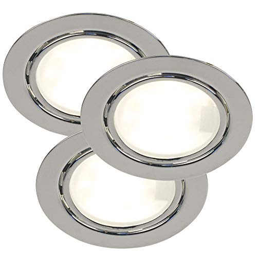 Set van 3 plafond inbouwspots opbouw lampen spots lampen vochtige ruimte zilver Nordlux 15630129