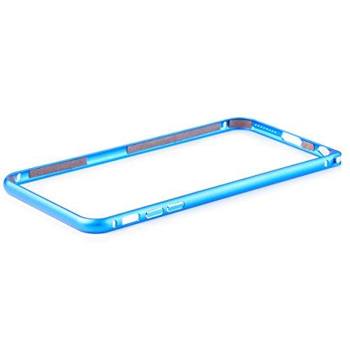 Apple iPhone 6 / 6S + PLUS (5,5 pulgadas) | iCues de parachoques de aluminio del clip de la turquesa | [Visualiza protector incluido] CNC metal de aluminio caso del marco metálico Case Alubump